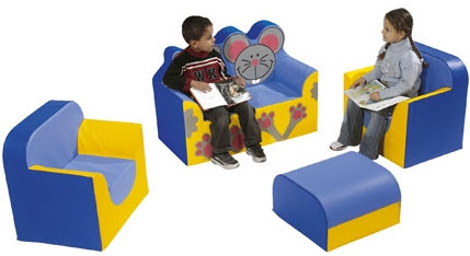WESCO Cat and Mouse Animal Vinyl & Foam Furniture Set