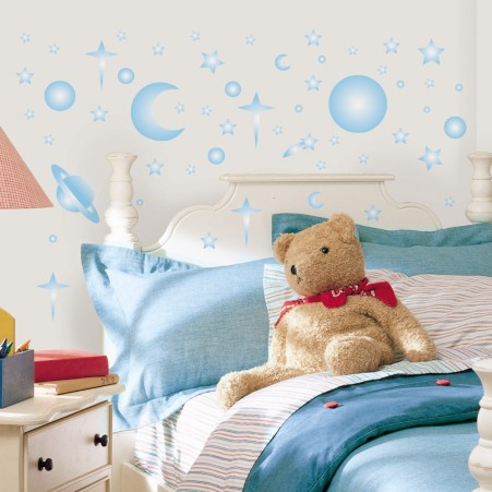 Celestial Peel & Stick Wall Stickers - Glow in the Dark - Free Shipping