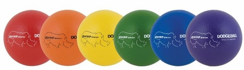 Champion Sports Rhino Skin Low Bounce Dodge Ball Set