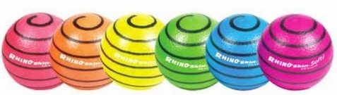 Champion Sports Rhino Skin Medium Bounce Neon Foam Ball Set