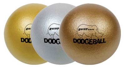 Champion Sports Rhino Skin Metallic Low Bounce Dodge Ball Set