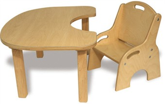 Toddler Wooden Table and Chair Set