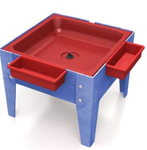 ChildBrite Toddler Sensory Mite Sensory Table w/ Red Tub