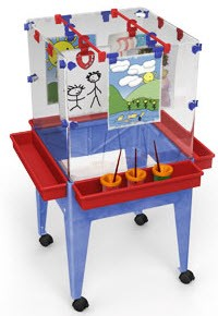 ChildBrite Youth 4 Station Space Saver Easel w/ Casters