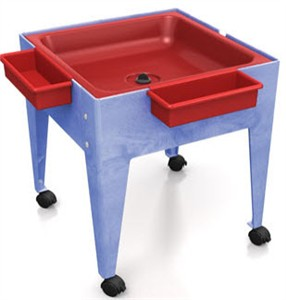 ChildBrite Youth Mite Sensory Table with Red Tub