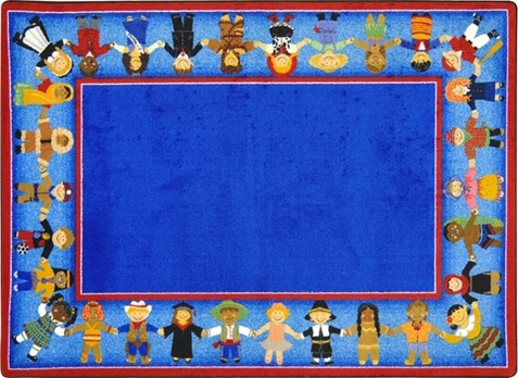 Children Of Many Cultures Rug 5'4 x 7'8 Rectangle