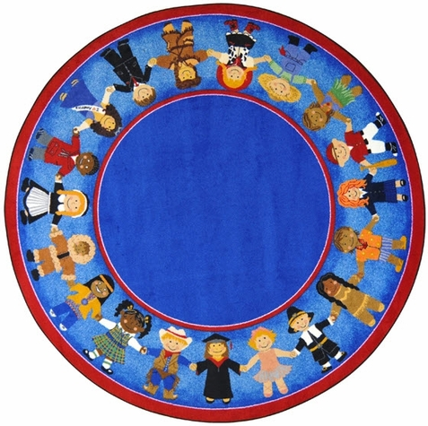 Children Of Many Cultures Rug 7'7 Round