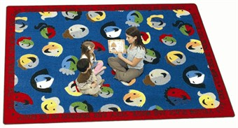 Children of the World Learning Rug 5'4 x 7'8