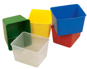 Set of 4 Children's Factory Cubbie Bins