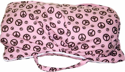Chocolate Peace Signs Sleeping Bag