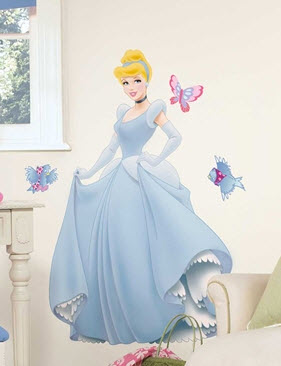 Cinderella Giant Wall Decal