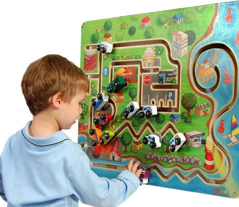 City Transportation Wall Toy for Waiting Areas