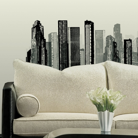 Cityscape Peel & Stick Giant Wall Decal