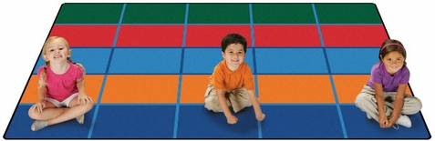Color Blocks Value Line Seating Rug 6' x 9' - Out of Stock