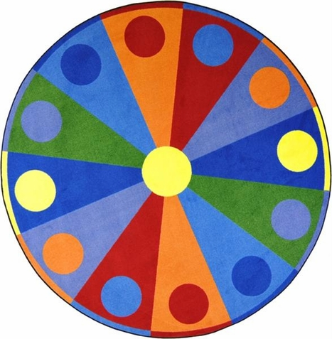 Color Wheel Area Rug 7'7 Round