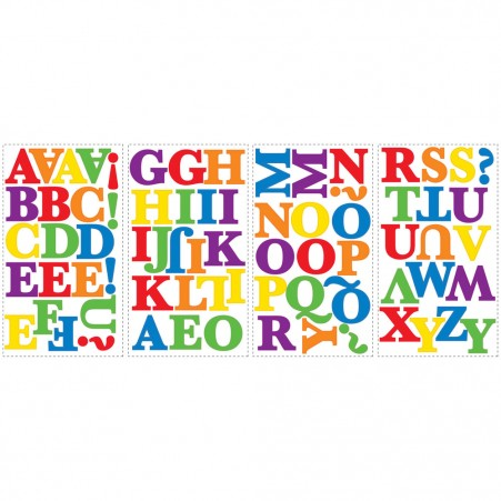 Colorful Alphabet Peel & Stick Wall Appliques - Free Shipping