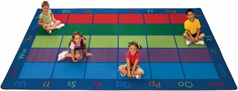 Colorful Places Seating Classroom Rug 7'6 x 12'