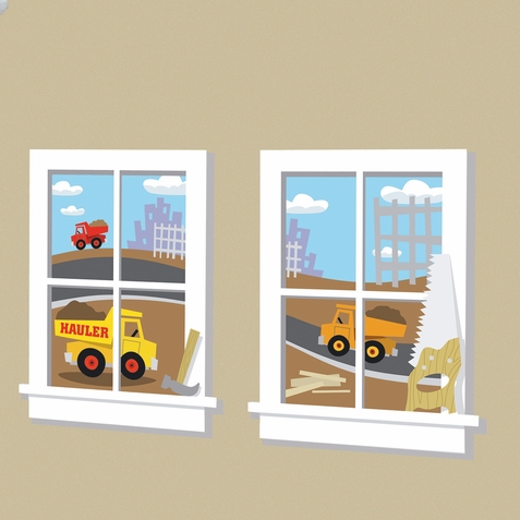 Construction Junction Peel & Stick Window Decals