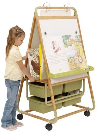 Copernicus Double Sided Bamboo Teaching Easel with ECO Tubs
