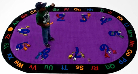Counting Hands School Rug 6'6 x 8'4