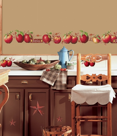 Country Apples Wall Decals
