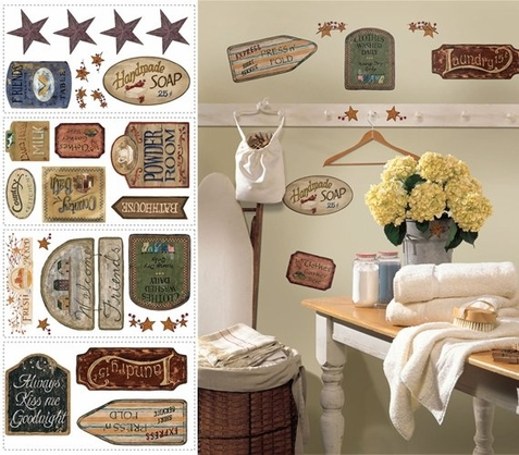 Country Signs Peel & Stick Appliques