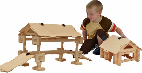 Covered Bridge Wood Building Set