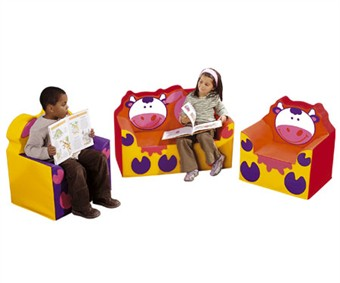 WESCO Cow & Pig Soft Vinyl and Foam Club Furniture Set