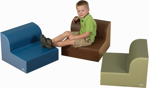 Cozy Woodland Library Soft Trio Seating Set