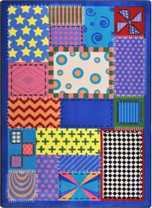 Crazy Quilt Childrens Rug 5'4 x 7'8 Rectangle