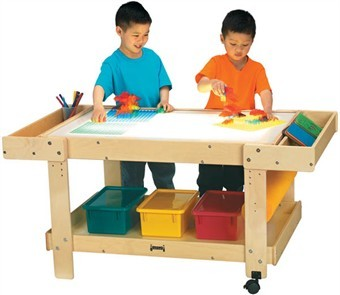 Jonti-Craft Creative Caddie Art Desk with Light