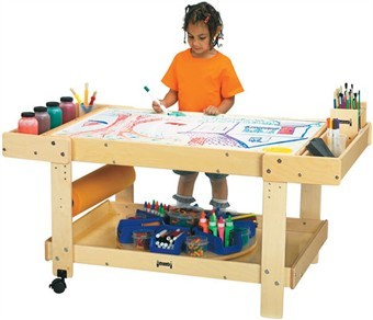 Jonti-Craft Creative Caddie Art Table and Supply Cart