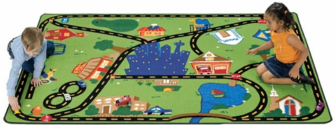 Cruisin' Around the Town Kids Area Rug 5'5 x 7'8