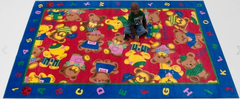 Cuddly Love Bear Classrom Rug - Free Shipping