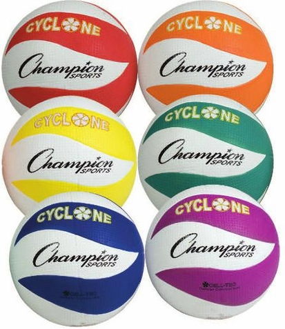 Champion Sports Cyclone Volleyball - Set of 6