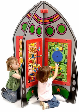 Deluxe Rocket Ship Activity Game Center