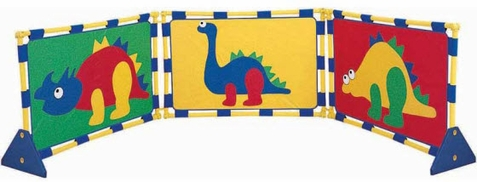 Dinosaur PlayPanel Set with Feet and Connector Clips