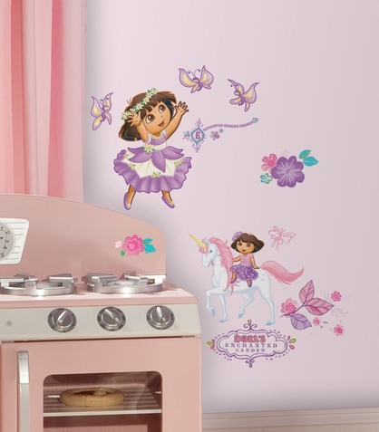 Dora's Enchanted Forest Adventures Peel & Stick Wall Decals
