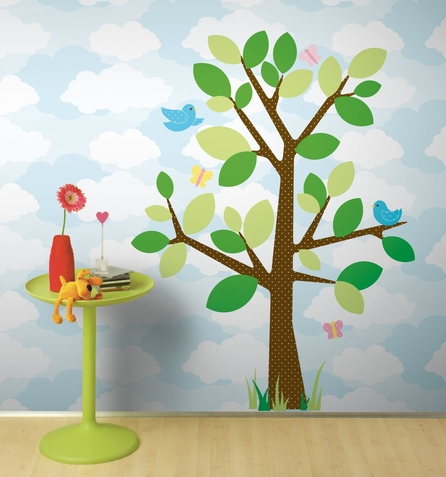 Dotted Tree Peel & Stick Decals