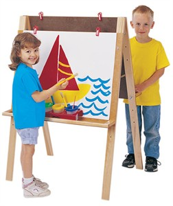 Jonti-Craft Double Adjustable Height Easel
