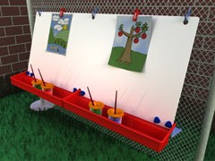 ChildBrite Double Fence Easel for Children