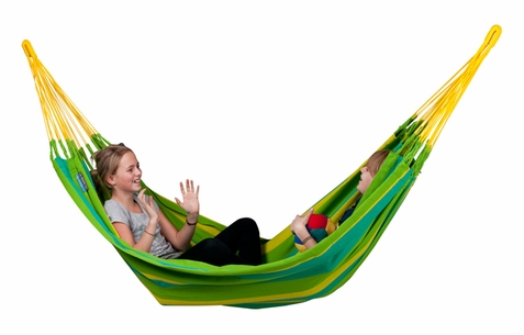 Double Hammock Lime Sonrisa - Free Shipping