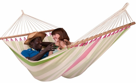 Double Hammock Colada Kiwi with Spreader Bars - Free Shipping