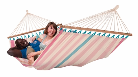 Double Hammock Colada Lychee with Spreader Bars - Free Shipping