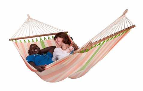 Double Hammock Colada Mango with Spreader Bars - Free Shipping