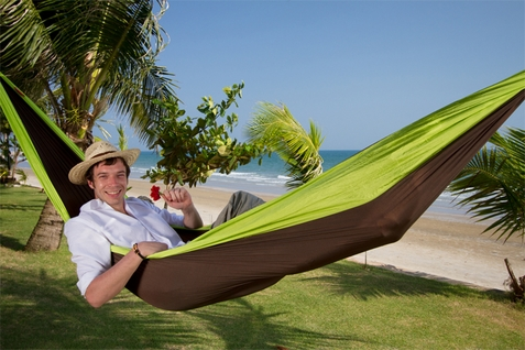 Double Colibri Green Travel Hammock - Free Shipping