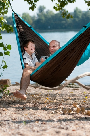 Colibri Turquoise Double Travel Hammock - Free Shipping