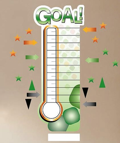 Fathead Dry Erase Fundraising Thermometer Decal