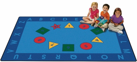 Early Learning Value Line Play Area Rug 6' x 9'