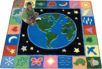Earth Works Nature and Stars Rug 7'8 x 10'9 Rectangle